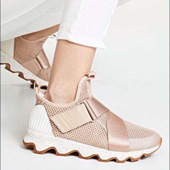 Euc Sorel Kinetic Sneak Sneaker Natural